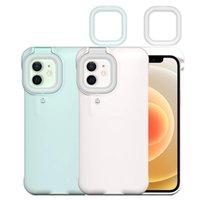 Preencher casos de telefone celular anel Capa de tampa de telefone para iPhone 12 Pro Max 11 Pro Max 7 8 Plus X XR XS Preencher Light Selfie Beauty Ring Flash