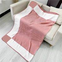 6 Colors Unisex Brand Blankets Vintage Letter Print Men Women Blanket Birthday Gift for Couple Soft Touch Wool Carpet