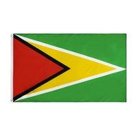 Bandeira nacional da Guiana para a fábrica direta de varejo de decoração Atacado 3x5fts 90x150cm Poliéster Banner Indoor Uso