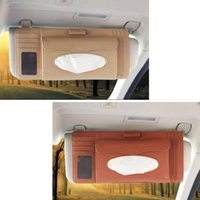Car Organizer 1pc CD Bag Storage Sun Visor Tissue Box Truck Dvd Disk Card Case Paper Napkin Holder