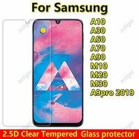 2.5d واضح الزجاج المقسى شاشة الهاتف حامي شاشة سامسونج غالاكسي A10 A20 A20CORE A20E A30 A40 A50 A60 A70 A80 A90 A10E A9 Pro Glass