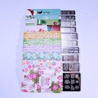 Modèles d'art Nail Art BeautyBigbang Stamping Stamping Set Set 10 PCS Géométrie de fleurs en dentelle Imprimante Imprimé Image Image Image Nails Modèle de moule de timbres XL-031-040
