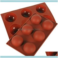 Bakeware Kitchen, Dining Bar Home & Gardenhalf Ball Sphere Sile Cake Mold Muffin Chocolate Cookie Mould Pan Tools Kitchen Baking Scraper 1Pc