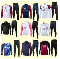 Fussball Training Anzug Mbappe Langhülse Sweatshirt 20/21 Maillot de Foot di Maria Verratti Football Jogging Jacke Trainingsanzug
