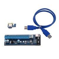 Top Quality 30cm 60cm PCI-E PCI Desk Scheda riser 1x a 16x Cavo dati USB 3.0 SATA a 4 PIN IDE Molex Alimentatore