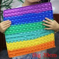 Büyük boy fidget oyuncaklar 30 cm itme kare antistress oyuncak kabarcık figet duyusal squishy jouet yetişkin çocuk gif için otiste dökün