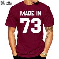 Homens camisetas feita em '73 - mens camiseta 13 cores 43rd presente presente presente -1973 mangas curtas o-pescoço camiseta tops tshirt homme