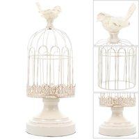 Candle Holders 1pc Iron Holder Birdcage Candlestick