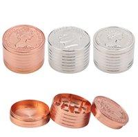 Molinillo de hierbas metálicas para Herb Tabaco Moneda Dólar Diseño 3 Capas Herramientas de Fumadores Accesorios Aleación de Zinc Abrader Triter Diámetro 38mm