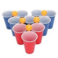 Copos 24 Bolas Beer Pong Kit, suprimentos de eventos, bolas de tênis, suprimentos para festas laváveis, para tabela adulta Jogos de mesa Tênis