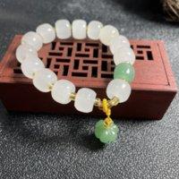 Jedwabiu Jade Xinjiang Ancient Styl Moda Dama Biżuteria Bransoletka Dla Kobiet Strands