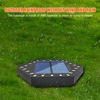 Hexagon Solar led Ground Lamp Powered Garden Landscape Lawn Wall Light Buried Lights Outdoor Road Stairs Decking Sensor