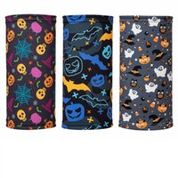Party Masks children Halloween mask cotton printed mask Bib outdoor magic scarf holiday gift ZC437