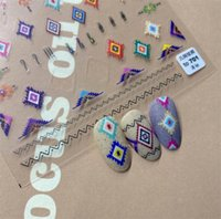 Stickers & Decals Bohemian Style Pattern Nail Sticker High Quality Art Decorations Design