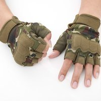 Mens Tactical Gloves Military Army Shooting Fingerless Gloves Anti-Slip Outdoor Hunting Sports Paintball Airsoft Bicycle Gloves