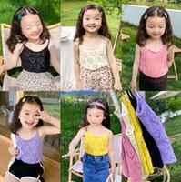 Ins Girls Love Heart Hollow Serbatoio Top 2021 Summer Children Princess Vest Bambini Tutte le partite Abbigliamento A7256
