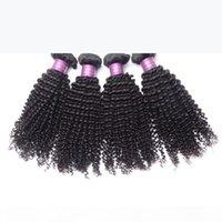 킨키 곱슬 브라질 말레이시아 인도 페루 몽골 인간의 머리카락 4 개짜리 묶음 머리 위사 위크 곱슬 곱슬 곱슬 인간의 머리카락 확장