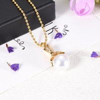 Pendant Necklaces CMJ9932 Elegant Shell Pearl Women Necklace Stainless Steel Cremation Jewelry Memorial Urn X'mas Gift