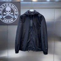 Double FF letter hot Diamond Men's Hooded Jacket waterproof Stormrage brand windbreaker jacket casual Buddha