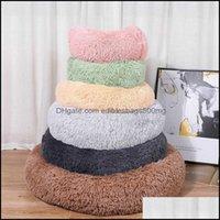 Furniture Supplies Home Gardensoft Pet Bed House Kennel Dog Round Cat Winter Warm Slee Bag Long Plush Puppy Cushion Mat Portable 40 50 60 70