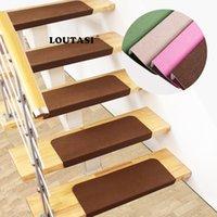Carpets LOUTASI 5pcs lot Non-slip Stair Mat Step Rugs Pads Staircase Carpet Home Decor Anti-slip Mute Alfombra De La Escalera