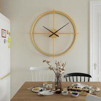 60 см Nordic настенные часы современный дизайн немой часы ресторан дома мода декоративный кварц большой висячий WAITC на KLOK