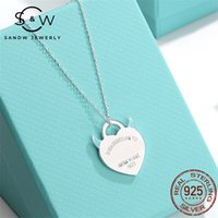 Sandw Light Jewelry di lusso Lady Little Devil Heart Collana Collana Smalto Pendente S925 Sterling Silver Fashion Classic Holiday Regalo per la fidanzata