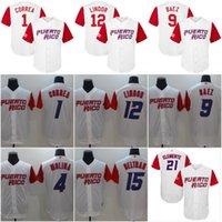 Дамы Пуэрто-Рико Бейсбол Джерси 21 Roberto Clemente 9 Javier Baez 1 Carlos Correa 4 Adil Molina 15 Reep World Classys