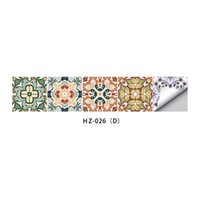 Wallpapers Fashion Wallpaper Border Sticker Simulation Tiles Waist Line Wall Waterproof Self Adhesive Decal For Bathroom Kit