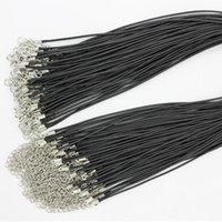 DIY 목걸이에 대 한 검은 정품 가죽 코드 조정 가능한 꼰 밧줄 팔찌 쥬얼리 찾는 결과 만들기