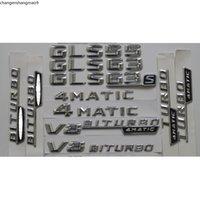 3D Chrome Shiny Silver Car Trunk Rear Number Letters Words Badge Emblem Emblems Sticker for Mercedes Benz GL63 GL65 AMG 4MATIC