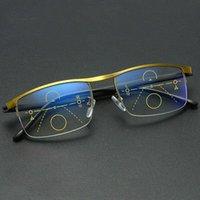 Немецкий интеллектуальный цвет Progressive Auto Focus Очки для чтения для чтения Подробнее Женщины Мужчины J55 Солнцезащитные очки