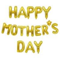 Cor de prata de ouro cor feliz dia mãe carta de mãe balões de 10 polegadas do partido balão amor mamãe mãe decoração ornamento esferas g34mbem