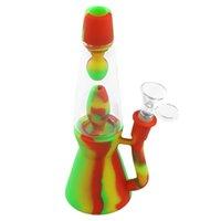 Lava Water Pipe Glass Beaker Bong Gravity Hookah Smoking Accessories Quick Ship
