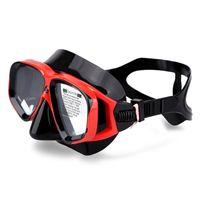Masques de plongée Anti-buée Verre Verre Verre Silice Gel Protecteur BIG Cadre