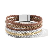 Tennis WYBU Four Styles Charm Bracelet For Women Teen Girl Multilayer Wide Leather Wrap Jewelry Gift Idea Wristbands