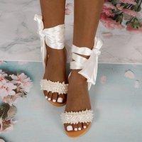 الصنادل الصيف مطرز بلينغ أحذية الأزياء النسائية مثير الكاحل حزام الكريستال الشرائح شقة شاطئ الساتان