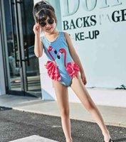 Girls Swimwear Flamingo Baby Girl Bathing Suit Cute Kids Swimsuit One Pieces Beach Bikini Children Swim Wear Clothing DW5017