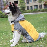 McAo Big Dog Capuz Capuz Raincoat Rain Poncho Poncho impermeável Casacos Ao Ar Livre Reflexivo à Prova de Pet Roupas HT0894