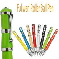 Fuliwen 2051 المعادن الأسطوانة الكرة القلم، الطازجة أنيقة نمط جميل متعدد الألوان لمكتب المنزل المدرسة تناسب الرجال والنساء كتابة أقلام حبر بوينت
