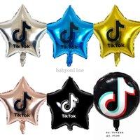Tiktok Balonlar 18 inç beş köşeli yıldız alüminyum filmi balon doğum günü partisi dekoratif tema partileri dekore edilmiş 7 renk DHL G34X5TQ