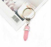 Charms Natural Stone Keychain Fashion Car Keyholder Handbag Hangs Boho Jewelry for Men Women