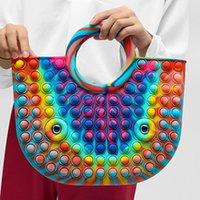 DHL Decompression Toy New fashion and trend silica gel anti-rodent bag advanced sense female handbag pioneer