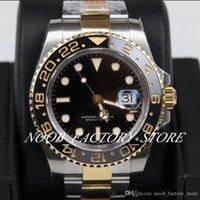 Zegarki w nowym stylu 40mm super gm factory 904l stalowa prawdziwa owinięta 18k złota automatyczna cal. 3186 Watch Nurkowanie ceramiczne Bezel ETA 116713 Zegarek