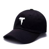 Uzi Gun Baseball Cap de Basebol Moda Snapback Hip Hop Cap Homens Heybig Curve Visor 6 Painel Paizinho Hat Hat Casquette de Marque