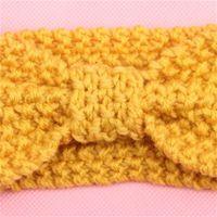 Niños Niñas Invierno Crochet Cálidas Diademas Bebé Niñas Navidad Turbon Nudo Punto Hairband Oído Calentador Princesa para niños Accesorios para el cabello 585 K2