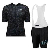 Maap Takımı Erkekler Bisiklet Jersey Set Yaz MTB Bisiklet Gömlek Önlüğü Şort Takım Yaz Bisiklet Üniforma Hızlı Kuru Spor Döngüsü Kıyafetler 32925