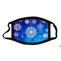 Padrão de floco de neve impresso máscaras de algodão à prova de poeira e lavável máscara para crianças adulto hwf9938