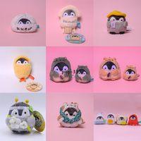 Kawaii Animal Penguin Shiba Dog Bonecas de Pelúcia Chaveiros Pingente para Carro Bag Brinquedos Recheados Crianças Presente de Aniversário
