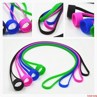 Universal Silicone Lanyard Vape Band O Rings Silicon Necklace Colorful for fit 16mm-25mm E-cigarette Kits RDA RBA Tank DHL